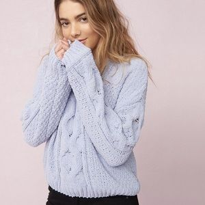 Garage plush cable knit sweater